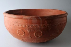 11988311-ceramic-bowl-terra-sigillata-hispanic-type-drag-37-with-geometric-decoration-in-concentric-circles--