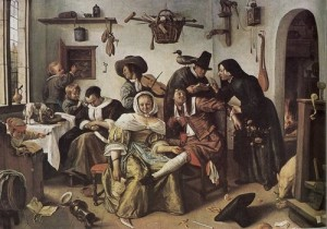 Jan Steen the world turned upside down