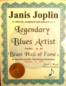 janis blues hall of fame