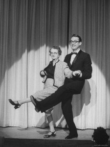 joe-scherschel-vaudeville-star-belle-montrose-performing-in-night-club-act-with-son-steve-allen