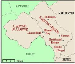 Nantmel 6 map welsh