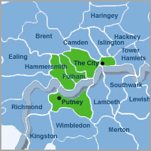 Putney 5 location map