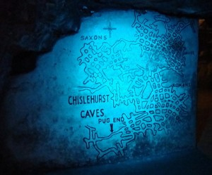 chislehurst caves blue