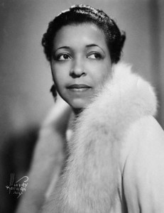 Young Ethel Waters Wearing White