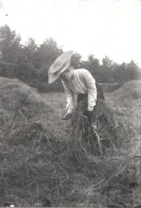 woman winnowing