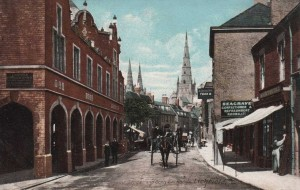 Staffordshire, Lichfield, Conduit Street and the Corn Exchange